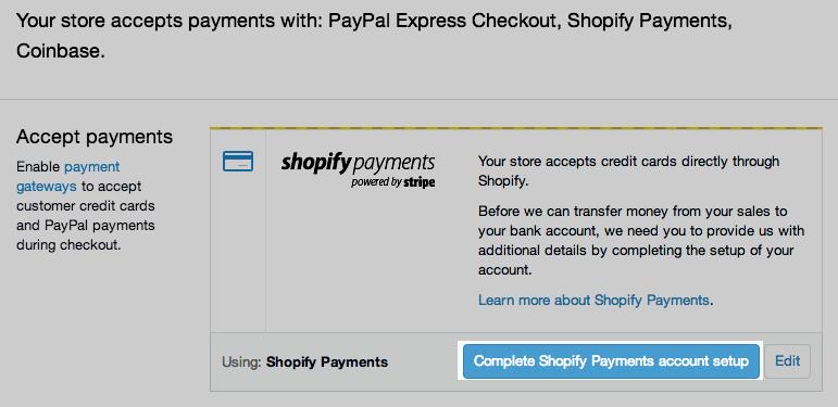 shopify中文教程中心  设置Shopify-Shopify-付款付款设置